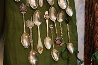 15 Sterling and Hallmarked Souvenir Demi Spoons