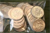 24 Silver Kennedy Half Dollars