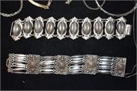 Large Sterling Bracelets