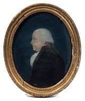 James Sharples (British-American, 1751-1811) pastel on paper portrait of a gentleman, discovered in Virginia