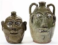 Lanier Meaders and B. B. Craig face jugs