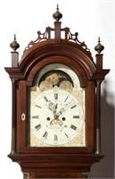 Detail of Aaron Willard tall-case clock