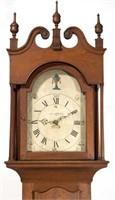 Detail of Caleb Davis tall-case clock