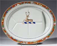 Fine Chinese Export well-and-tree platter, from the estate of Dr. Stephen Goodyear, ex-Sotheby's, Lot 346, February 1, 1986