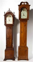 """From a fine selection of American tall-case clocks, including examples by Aaron Willard (Boston, MA), dial dated """"1793"""", and John Fessler (Frederick, MD)"""