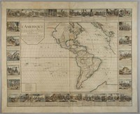 """Gaspard Bailleul """"L'Amerique Divisee En Ses Principales Parties"""" (1752), deaccessioned by the Colonial Williamsburg Foundation with proceeds to benefit the Collections and Acquisitions Funds"""