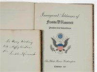 Rare Franklin D. Roosevelt signed and inscribed publications, limited editions reserved for Cabinet members, presented to Harry Hines Woodring, Secretary of War (1936-1940), descended directly in the family