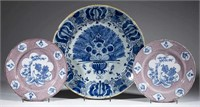 Beautiful early Dutch and English delft/tin-glazed earthenware