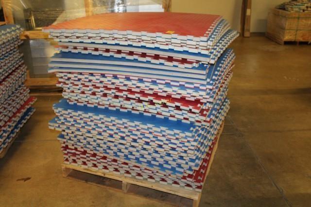 Pallet Of Foam Puzzle Piece Flooring H K Keller