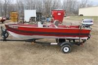 1973 14ft Minnow Craft Aluminum Boat w/ 25 HP | Smith Sales LLC