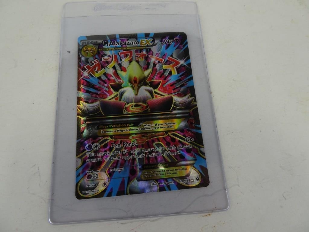 Mega Ultra Rare Holo Alakazam Pokemon Card Dugan Inc