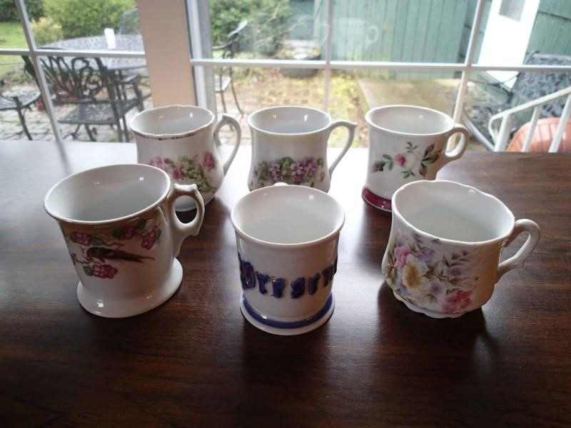 6 Decorative Mugs As Shown Live And Online Auctions For