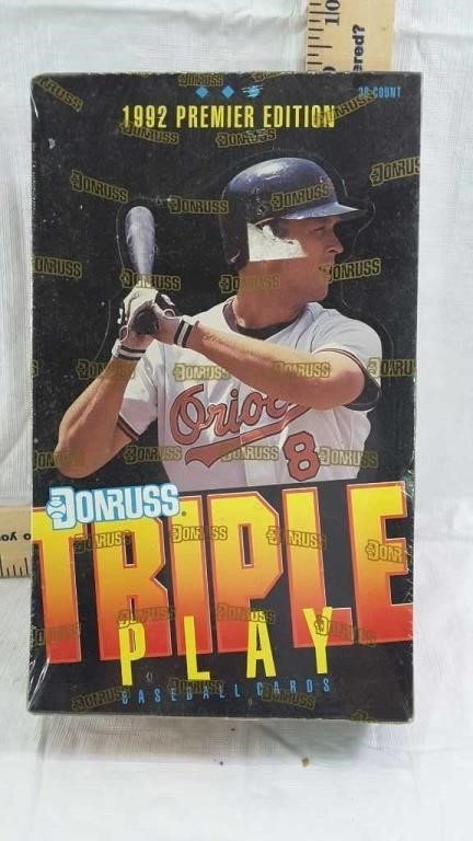 Unopened 1992 Donruss Baseball Cards Furlo Auction Service