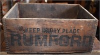 Early Rumford Wooden Box