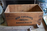 High Explosives Wooden Box