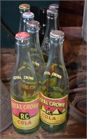 Early Royal Crown Soda Bottles