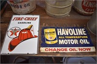 MINT Fire-Chief Gasoline Texaco Sign