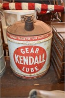 5 Gallon Kendall Lube Can