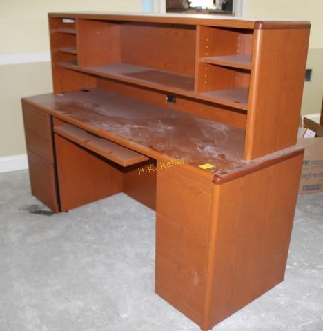 Hon Computer Desk With Shelf Unit H K Keller