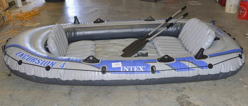 Intex Excursion 4 Inflatable Raft or Boat w/Pump, | Golden