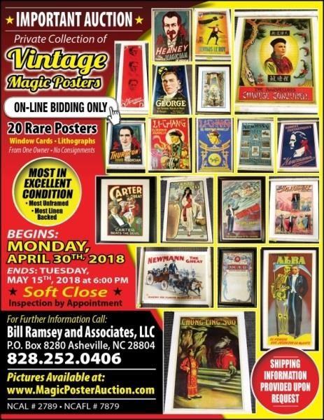 20 Lots | Magic Poster Auction Ends May 15, 2018 | HiBid