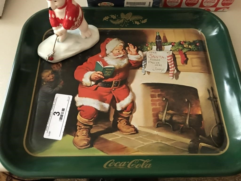 Coca Cola Tray, Decorations | Baer Auctioneers - Realty, LLC