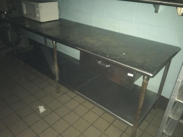 Stainless Steel Table 8 Feet Utensil Drawer Kraft