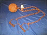 Yuma Prison Ball and Ankle Shackles