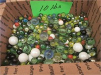 10lb Box Of Marbles In Various Colors / Sizes