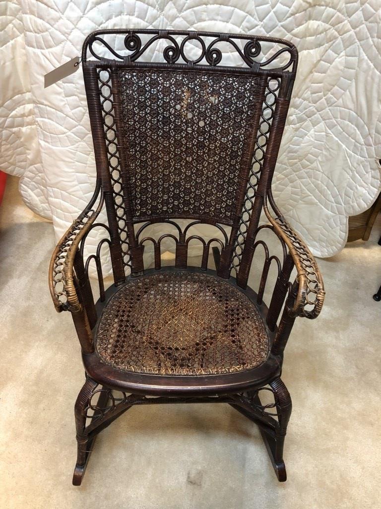 Fantastic Rare Antique Cane Rocking Chair Very Unique Jds Auctions Lamtechconsult Wood Chair Design Ideas Lamtechconsultcom