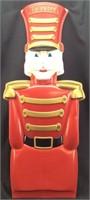 LARGE PLASTIC SMIRNOFF TOY SOLDIER NUTCRACKER AD
