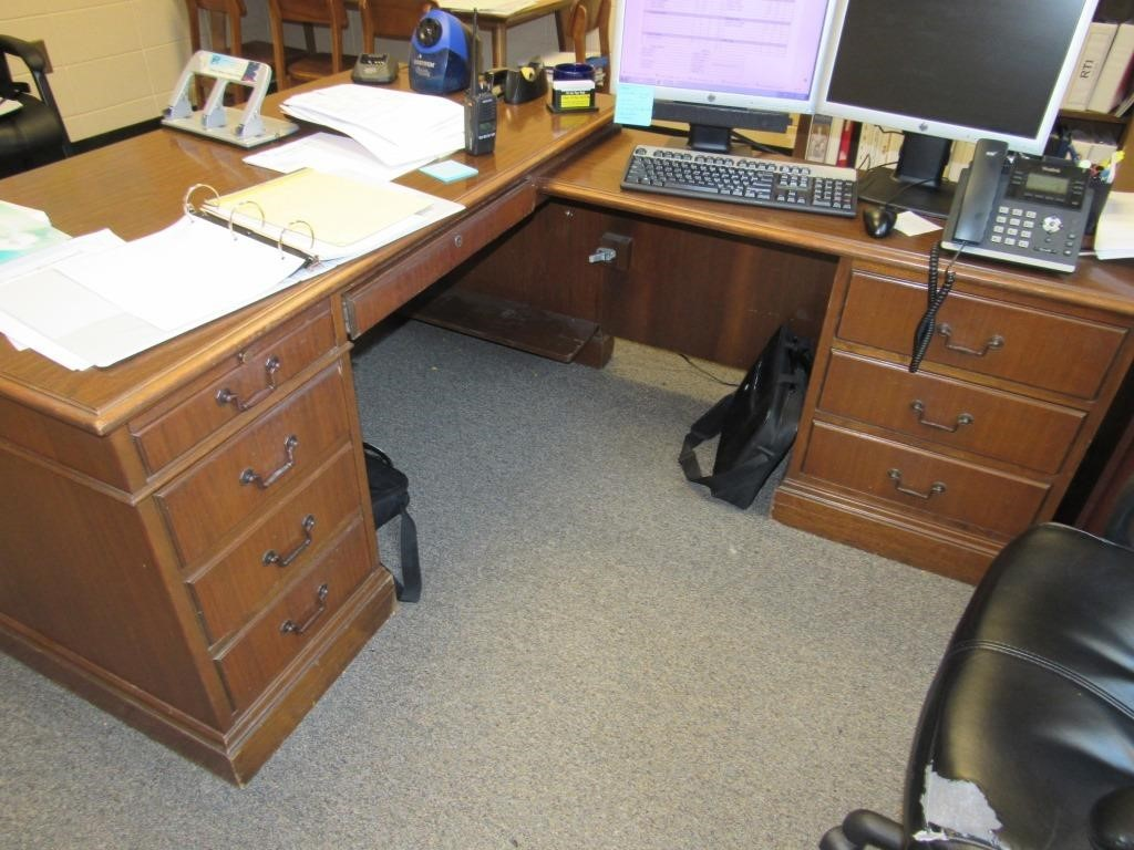 Large Desk With Extension And Chair On The Block Auction Company