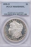 $1 1898-O PCGS MS65 DMPL