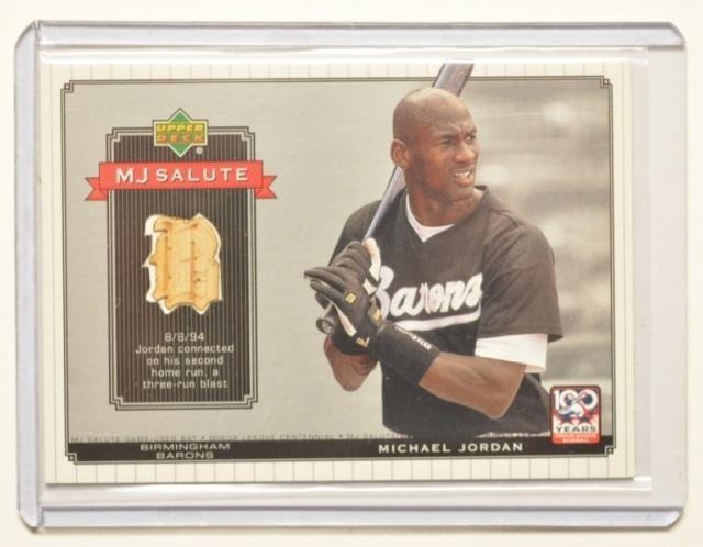 2001 Upper Deck Mj Salute Game Used Bat Card Kraft Auction
