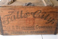 Fally City Beverage Comapy Wooden Crate