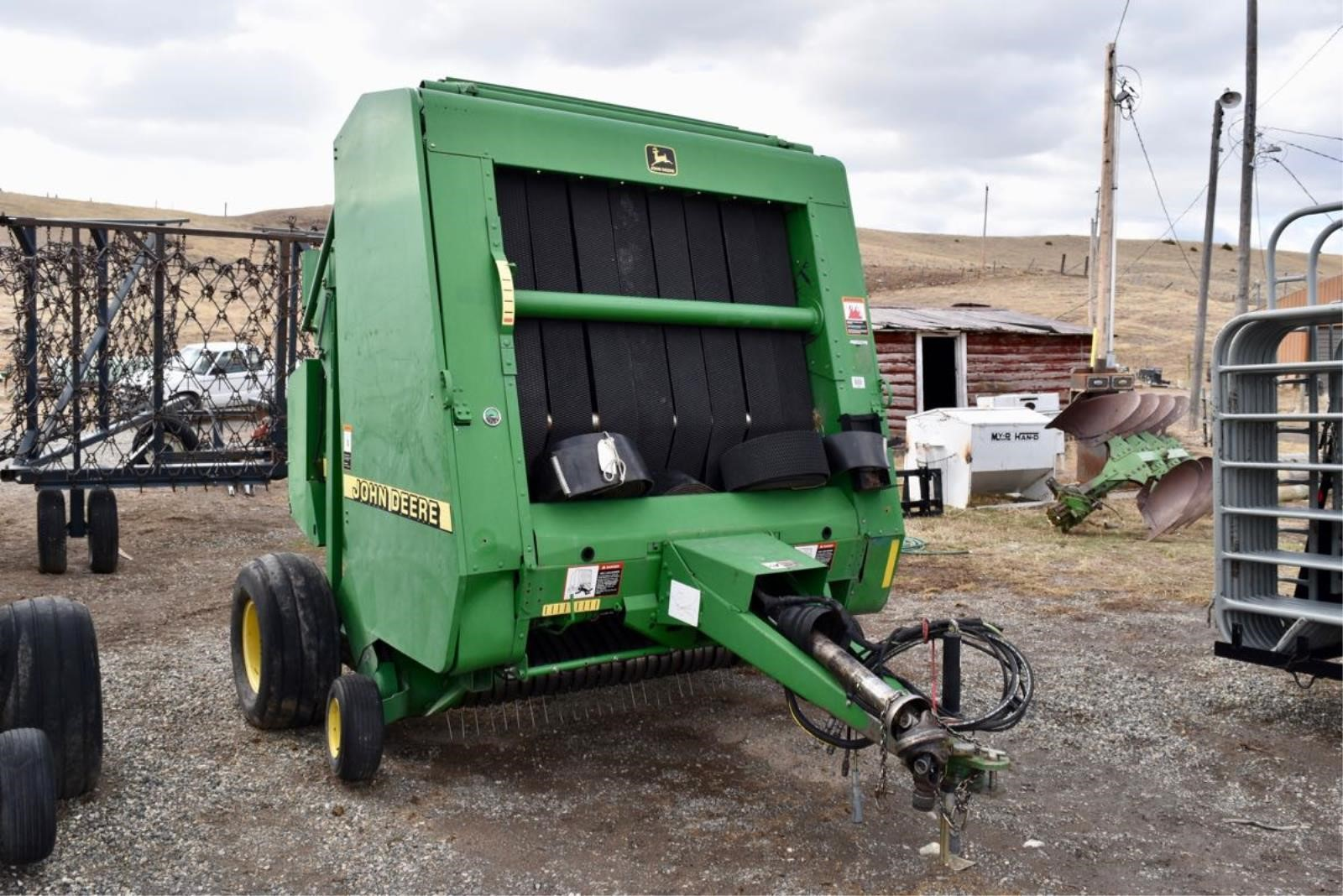 Adding Net Wrap To A Baler