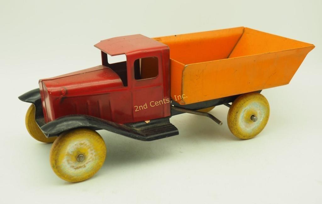 Antique Toy Dump Truck Pressed Steel