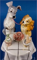 Lady and the Tramp Spaghetti Dinner Figurine Lenox