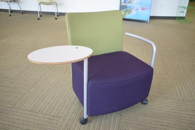 Fantastic Herman Miller Celeste Tablet Arm Lounge Chair Hibid Auctions Inzonedesignstudio Interior Chair Design Inzonedesignstudiocom