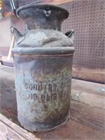 Antique cream can