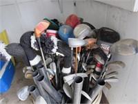 Large golf item lot (balls, clubs, etc)