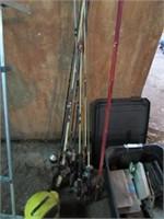 Lot of fishing equipment