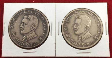 2) Adolf Hitler Memorial Coins | www bidtarter com