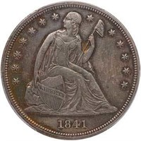 $1 1841 PCGS AU58