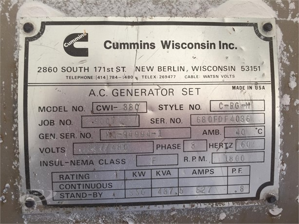 CUMMINS Power Systems For Sale in Wisconsin - 29 Listings