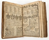 An 18th century printing of Britannia Depicta or Ogilby Improved having engraved maps of the roads of Britain.