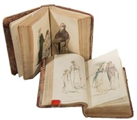 Two editions, 1809 and 1810, of Ackermann's Repository of Arts, Literature, and Commerce with color plates.