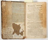 An 1804 printing of The New Wonderful Museum bound in Boston, England.