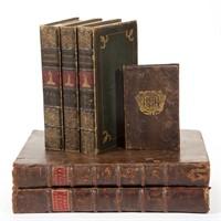 Antiquarian books and manuscripts including a three volume set of John Ireland's 1798 Hogarth Illustrated.