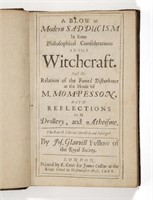 A 1668 copy of A Blow at Modern Sadducism in Some Philosophical Considerations about Witchcraft.